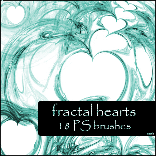 Hearts Fractal Brushes Photoshop brush