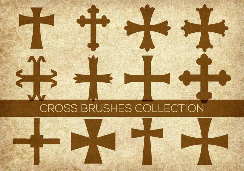 Religious Cross Brushes Photoshop brush