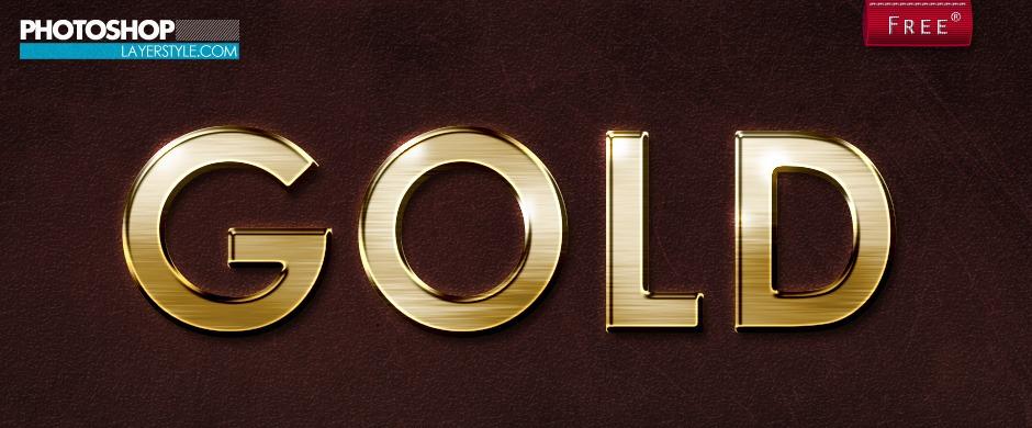 Gold Photoshop Style Photoshop brush