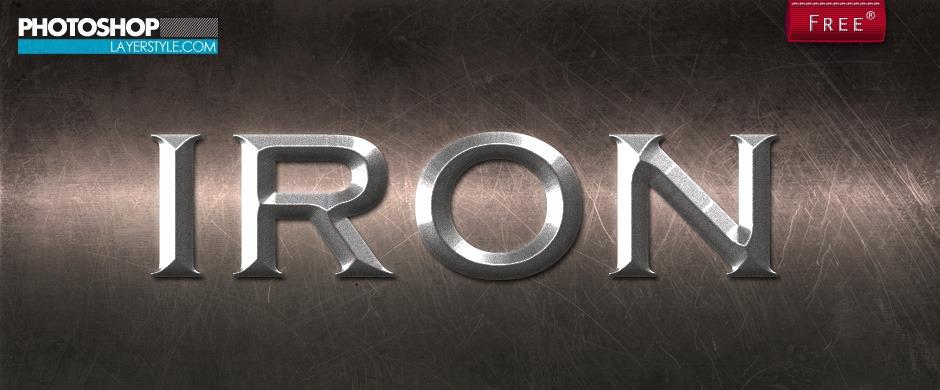 Iron Layer Styles Photoshop brush