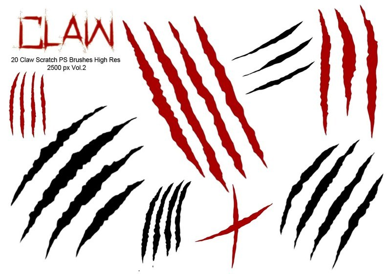 20 Claw Scratch PS Brushes abr. vol.2 Photoshop brush