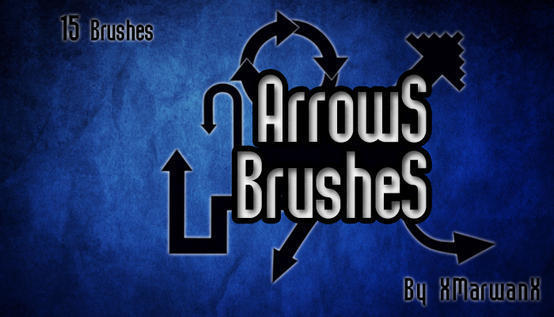 Arrows Brushes By XMarwanX Photoshop brush