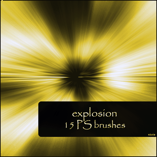 Explosion Photoshop brush