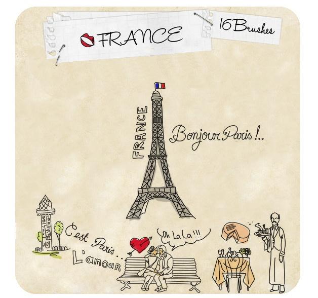 France Brushes Photoshop brush