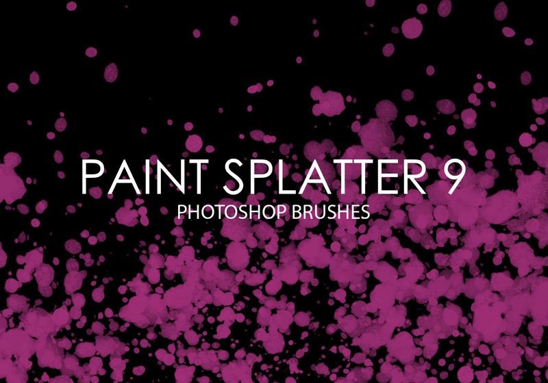 Free Paint Splatter Photoshop Brushes 9 Photoshop brush