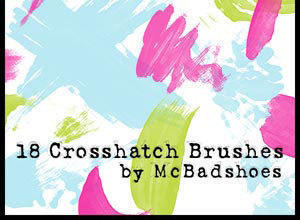 Crosshatch Photoshop brush