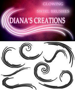 Glowing Swirl Brushes Photoshop brush