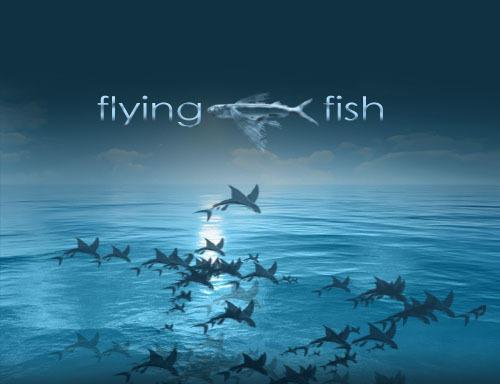 Flying Fish Photoshop brush