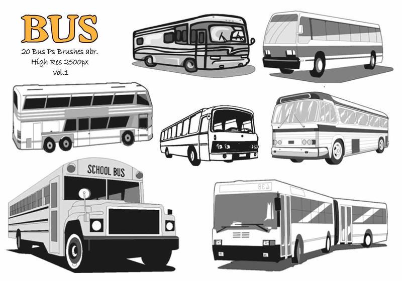 20 Bus Ps Brushes abr. vol.1 Photoshop brush