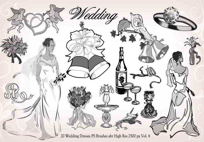 20 Wedding PS Brushes abr vol.4 Photoshop brush
