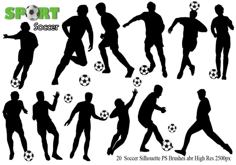 Soccer Silhouette Ps Brushes abr. Photoshop brush