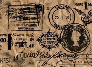 Old Postage Stamp Brushes Photoshop brush