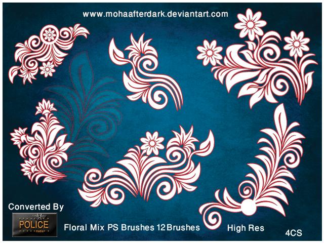 Floral Mix Photoshop brush