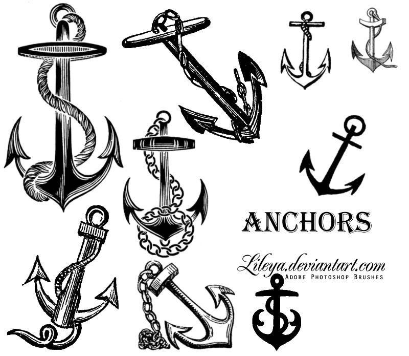 Anchors Photoshop brush