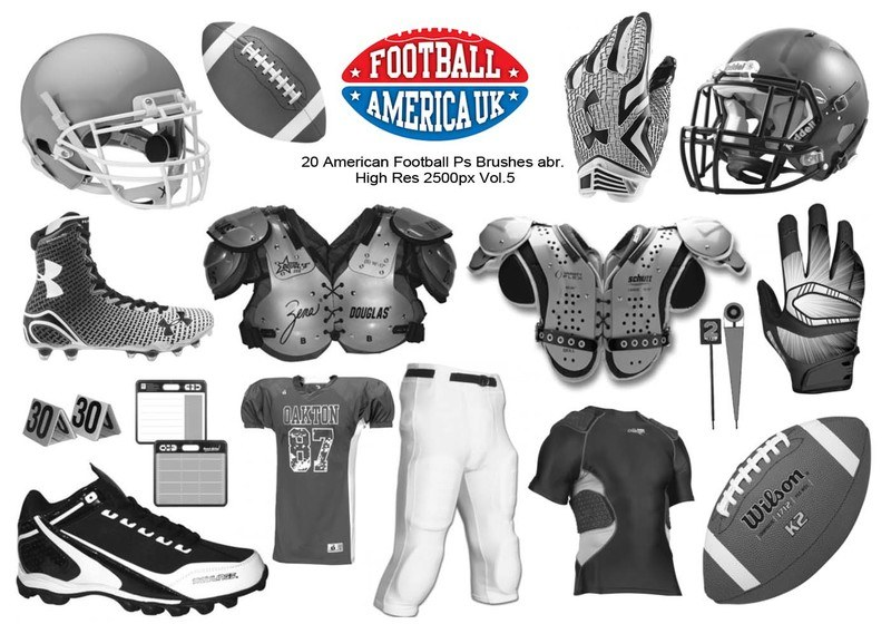 20 American Football Ps Brushes abr.  vol 5 Photoshop brush