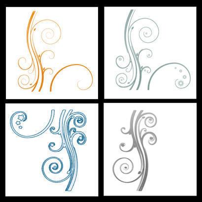 Swirl Flowers Photoshop brush