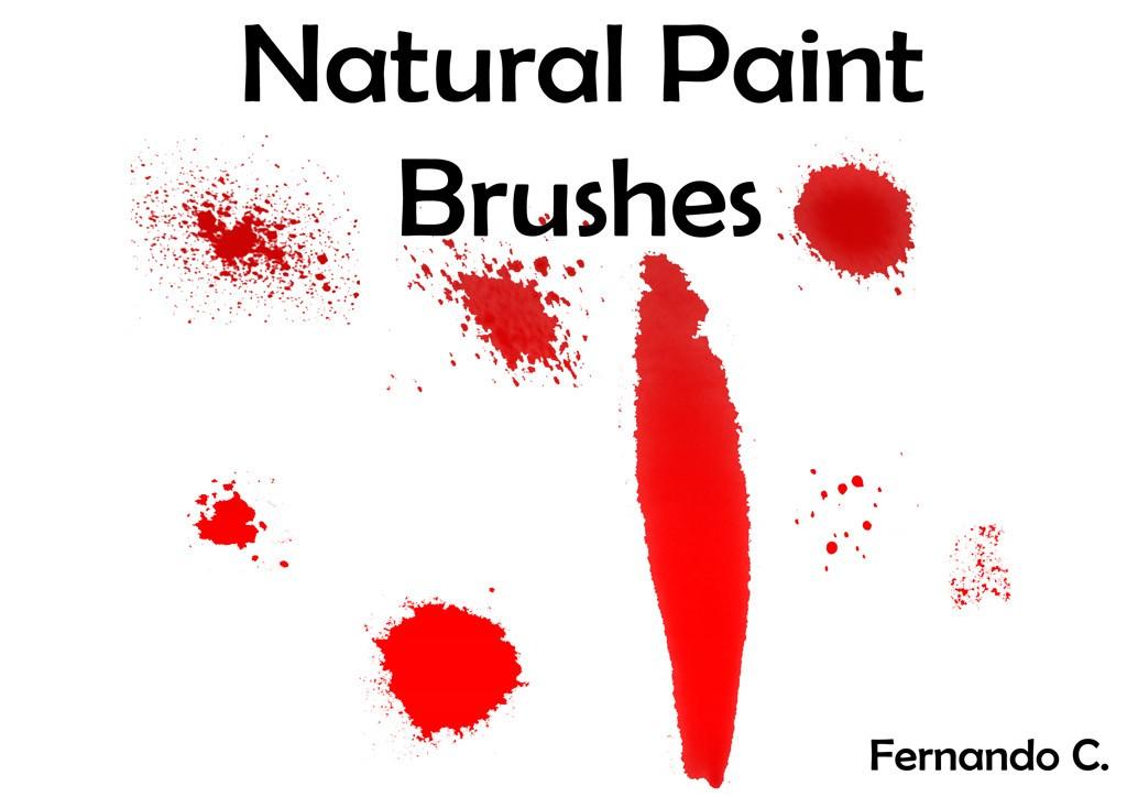 Natural Paint Brushes Photoshop brush