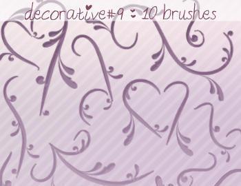 Decorative Brushes 9 Photoshop brush