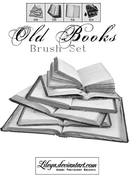 Old Books Photoshop brush