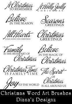 Christmas Text Brushes Photoshop brush
