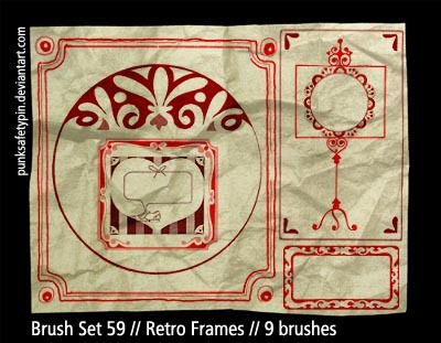 Retro Frames Photoshop brush