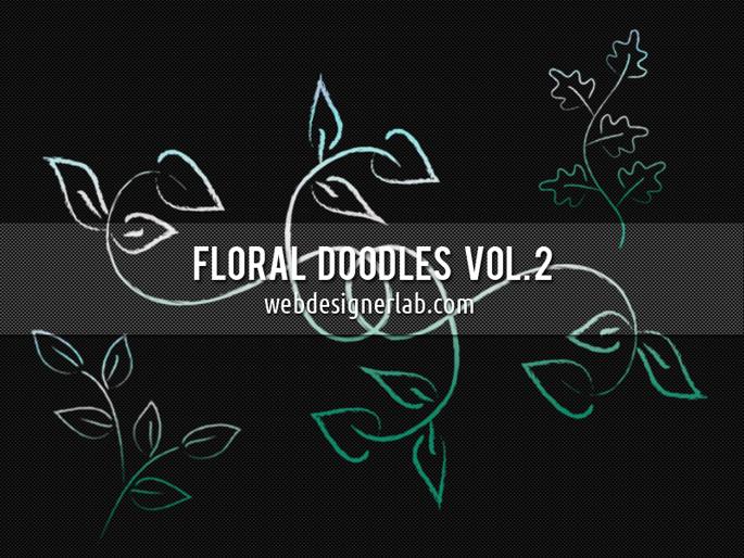 Floral Doodles Brushes (Vol. 2) Photoshop brush