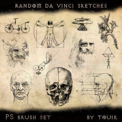 Random Da Vinci Sketch Brushes Photoshop brush