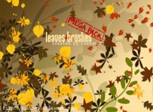 Leaves Brushes - MEGA PACK Photoshop brush