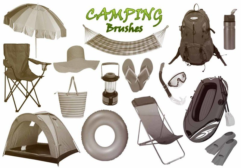 20 Camping PS Brushes abr. vol.3 Photoshop brush