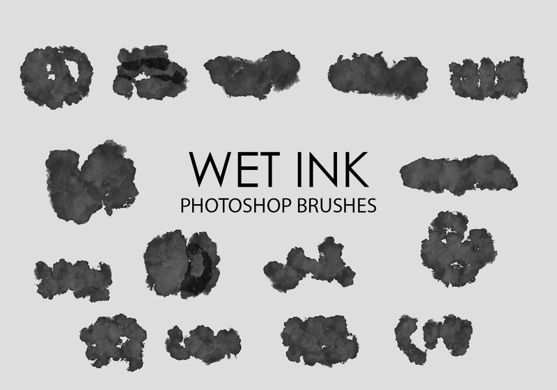 Free Wet Ink Photoshop Brushes 5 Photoshop brush