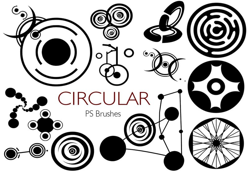 20 Circular PS Brushes abr. Vol.1 Photoshop brush