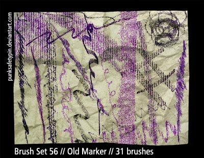 Old Marker Photoshop brush