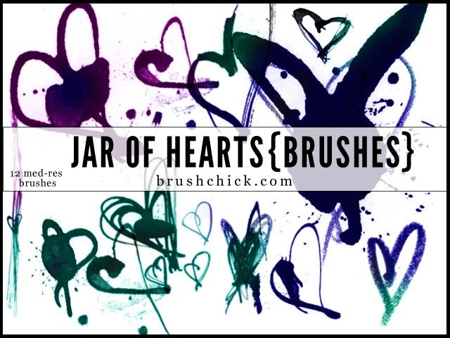 Jar of Hearts Photoshop brush