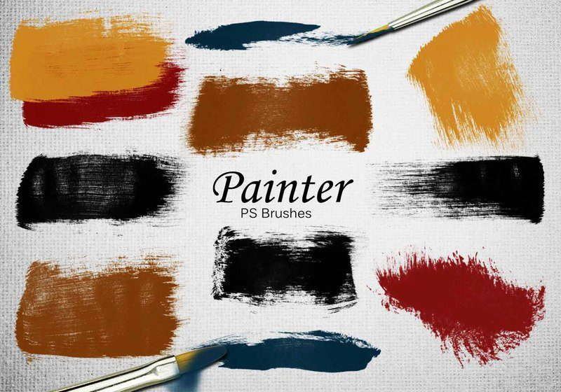20 Painter PS Brushes abr.Vol.8 Photoshop brush