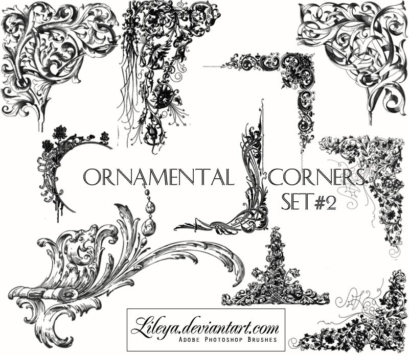 Ornamental Corners set 2 Photoshop brush