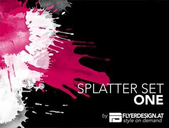 Splatters Set 1 Photoshop brush
