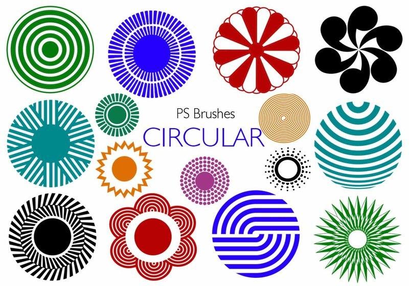 20 Circular PS Brushes abr. Vol.6 Photoshop brush