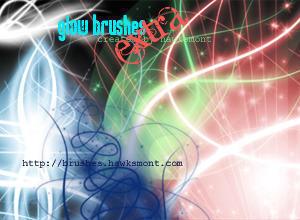 Glow Brushes EXTRA Photoshop brush