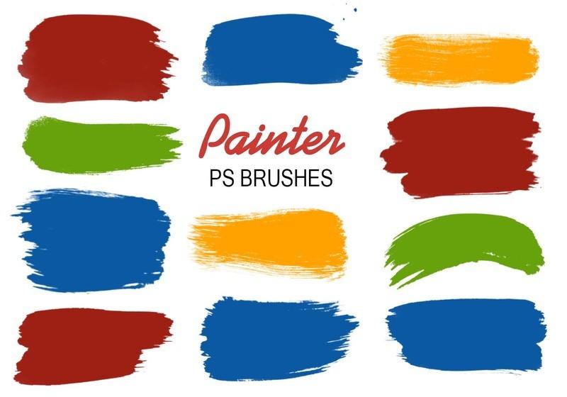 20 Painter PS Brushes abr.vol.4 Photoshop brush