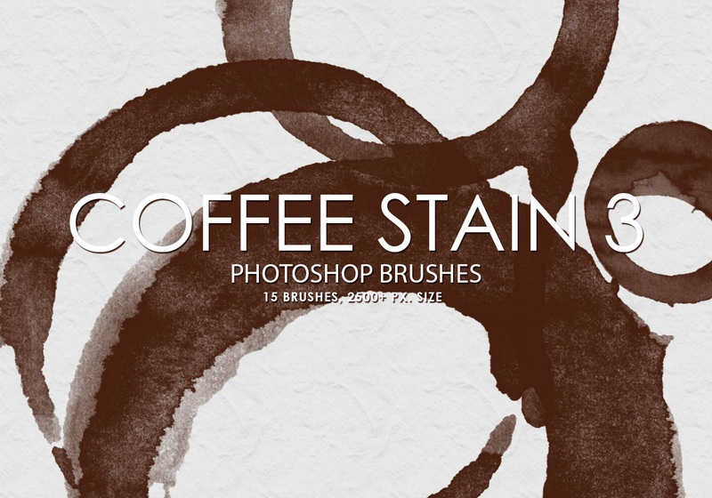 Free Coffee Stain Photoshop Brushes 3 Photoshop brush