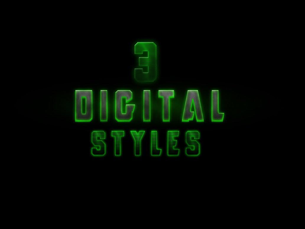 3 Digital Styles Photoshop brush