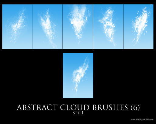 Free Abstract Cloud Brushes set 1 Photoshop brush