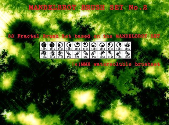 Mandelbrot Set Fractal Brushset No.2 Photoshop brush
