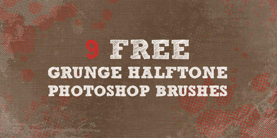 9 Grunge Halftone Brushes Photoshop brush