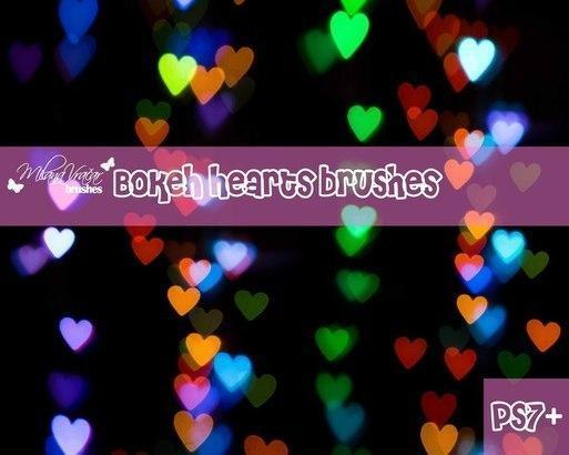 Bokeh Heart Brush Pack by Milana V. Photoshop brush