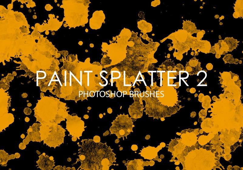 Free Paint Splatter Photoshop Brushes 2 Photoshop brush