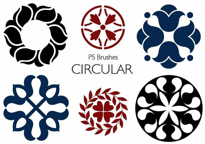 20 Circular PS Brushes abr. Vol.9 Photoshop brush