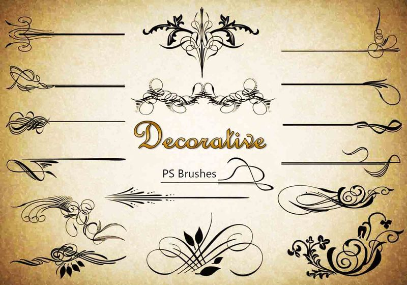 20 Decorative PS Brushes abr. Vol.7 Photoshop brush
