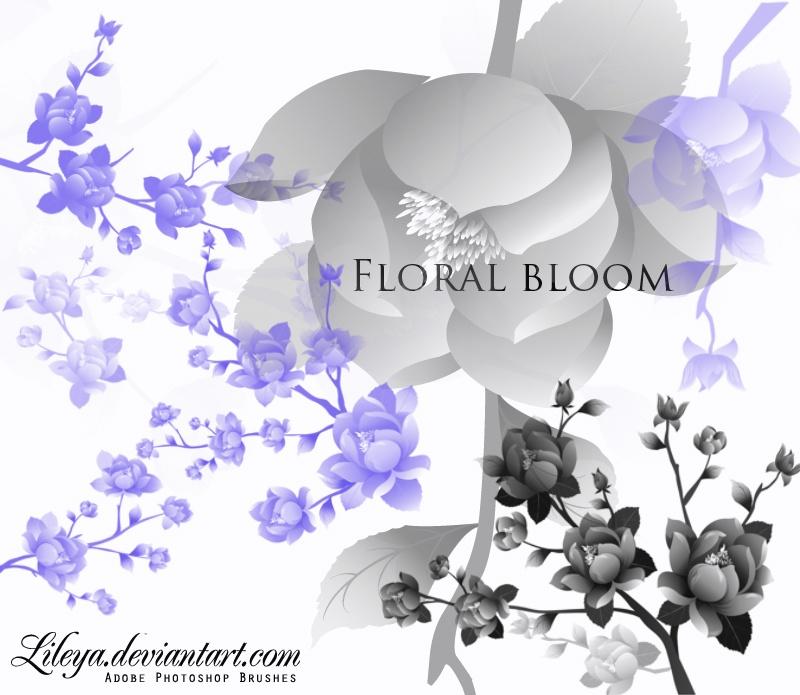 Floral Bloom Photoshop brush