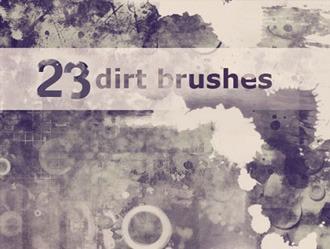 23 Dirt Brushes Photoshop brush